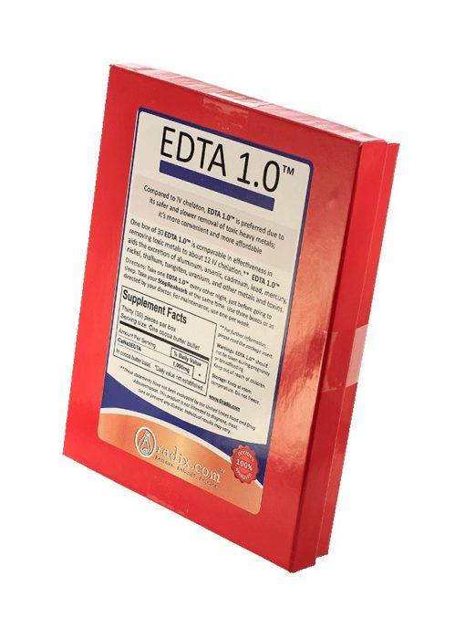 EDTA 1.0 (1000mg EDTA) with a free StopReabsorb bowel cleanse
