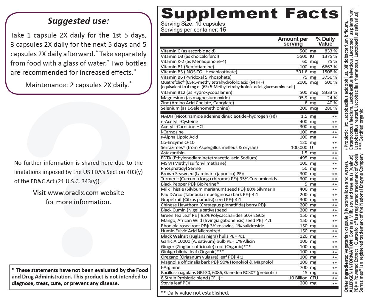 Stemdetox – Methylated Advanced, detoxification, anti-biofilm